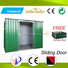 mini modular top sale multifunctional colorized galvanized steel sheet prefab shed for for tools storage