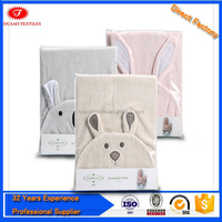 2015 wholesale customized Animal Print Butterfly Baby towel hooded Poncho kids beach towel