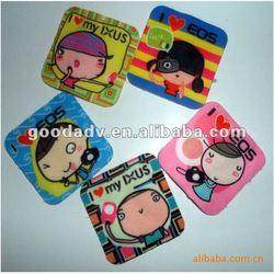 Guangzhou hot sale mini size microfiber sticky mobile phone screen cleaner