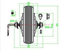 Мотор для электровелосипеда 350W 48V 8 e