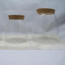 Grande selo de vidro latas / vasilha / frascos / latas com tampa de madeira à venda