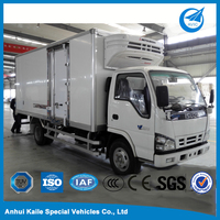 Mini lorrys refrigerator cooler truck for carrying milk