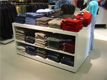 Retail Garment Shop White Display And Storage Cabinet Stand