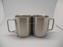 Angel's wing coffee cup,stainless steel coffee cup,metal cup
