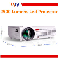 Hot Sale 1080P HD 2500 Lumens Home Use Meeting Advertisement LED Projector