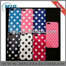Cute and dot style case for iphone5 for iphone5S