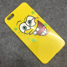 Cute spongebob case cartoon mobile phone cover for iPhone 5 phone shell