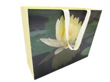 MOQ 1000pcs luxury printing paper shopping bag