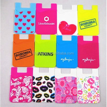 New arrival Silicone 3m Sticker Wallet Card Holder&Silicone phone wallet for name card