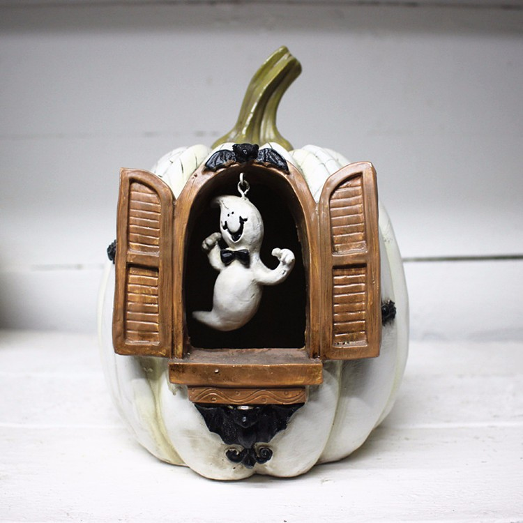 Custom Haunted House decorative resin ghost pumpkin