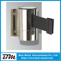 Top quality nylon belt wall mounted retractable belt safety barrier