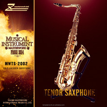 cheap gold lacquer tenor saxophone, names of musical instruments from china factory