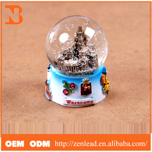 blue china factory ODM & OEM fashion resin christmas snow ball
