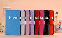 2013 New Fashion Quilted Luxury Leather Stand for iPad mini Case Belt Clip Case With Card Slot Manufacturer Wholesale