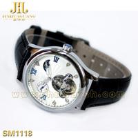 SEWOR Mens Gold Tone Skeleton Transparent Mechanical Watch Men 2014 NEW mechanical man watch