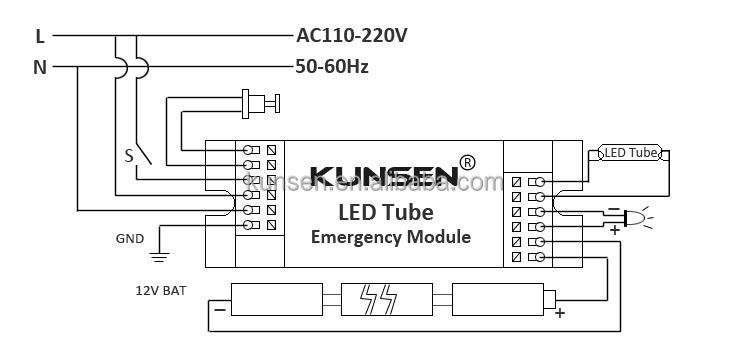 230v ac output emergency module for led tubeled panelled down tubeg ccuart Images