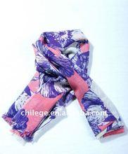 spring wool scarf/wool ladies poncho with flower print