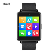 2015 new IPS touch screen IP54 waterproof cell phone watch android with changeable leather strap
