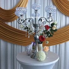 6 arms candelabra crystal wedding table centerpiece with LED light wedding event party Decoration