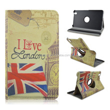 I Love London, PU Leather Tablet Case for Samsung Galaxy Tab Pro 8.4inch T320, Rotate Folio Stand Cover With Elastic Belt