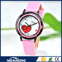 China supplier lady fashion bracelet watch heart shape watch for woman
