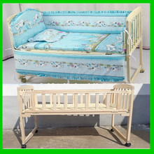 Top level antique high quality baby bed room furniture