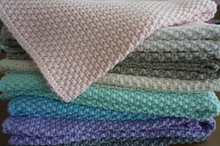 Cable Knit Newborn Baby Blanket Cashmere Knitted Blanket