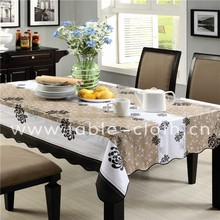 Pretty Waterproof Wholesale tablecloth/pvc tabletop