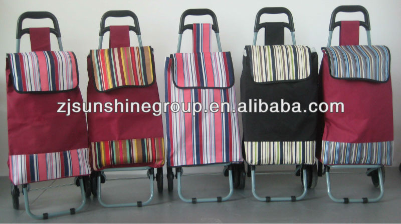 Wholesale folding smart grocery shopping cart trolley with seat
