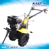 Hand tractor power cultivator in farmstead and used mini tiller