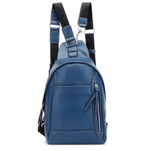 Navy Girl Causal PU Leather Chest Bag Backpack Manufacturer