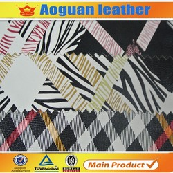 2015 different pattern artificial pu leather for garment