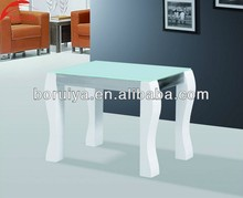 Glass top wood bases fancy coffee table home furniture design