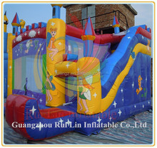 Rui Lin elfin theme inflatable bounce house,inflatable bouncy castle for fun
