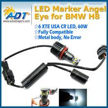 H8 LED Angel Eyes Halo Ring Marker Light for BMW E90 E92 E93
