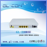 2GE+2FE Gepon Onu WIFI ftth epon onu modem compatiable with Huawei, ZTE OLT GEPON ONU GL-E8081U