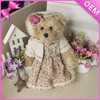 Rustic style teddy bear, village-style custom plush doll, novel modern toys for children