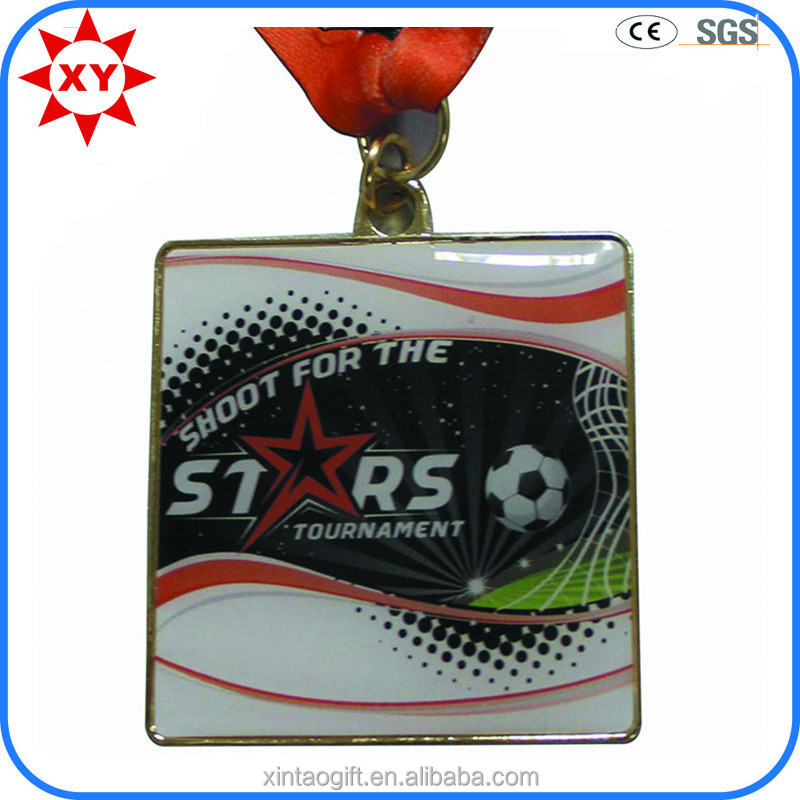 offerte di personalizzati epossidica rivestimento calcio sport medaglia del metallo