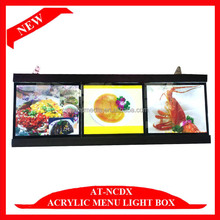 Acrylic LED Backlit Menu Boards Picture Displays Advertising
