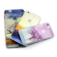 Customs painting half clear phone case for iPhone5s 6 plus many designs covers available