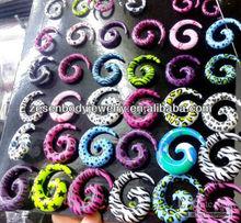 Acrylic Ear Spiral Taper Ear Stretcher Body Piercing Jewelry