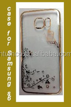 Wholesale fancy case,colored case,PC Case with Electroplating and Laser Pattern for Samsung S6