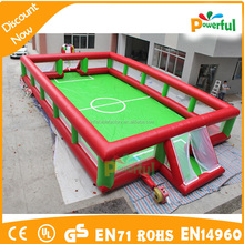 Crazy Fun Inflatable Game Mini Football Pitch/Water Football Court