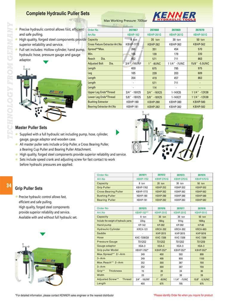 KENNER brand Easy series trolley hydraulic puller