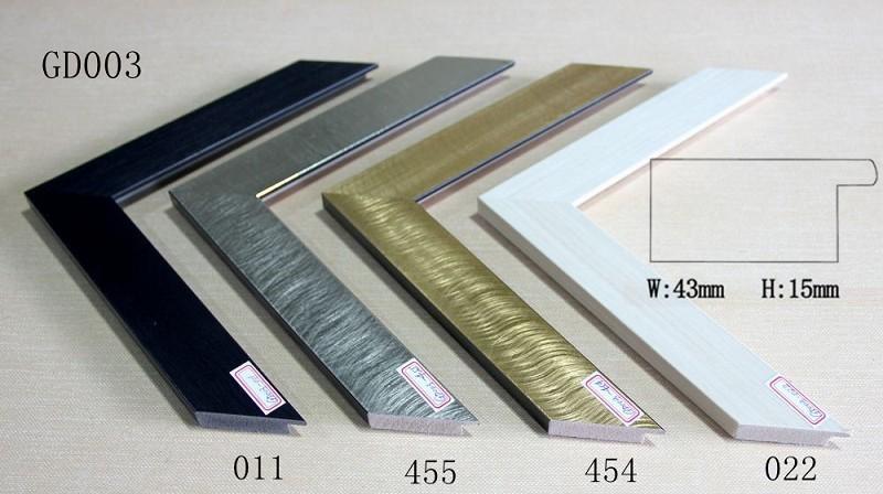 GD003 W43 * H15mm diseño único acabados metálicos marco decorativo ...
