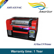 UV ink CMYK+4W low cost uv led printing machine for pen