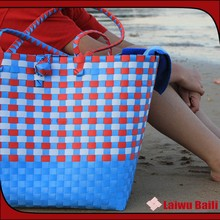 2015 New arrival trendy straw beach towel tote bag