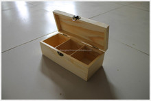 2014 new design unfinished small handmade wooden tea boxes