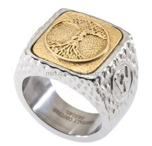 High Quality Mens Unique Tree of Life Signet Ring