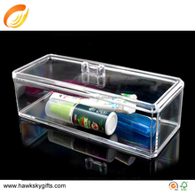 Clear Plastic Makeup Tool Storage Case With Lid